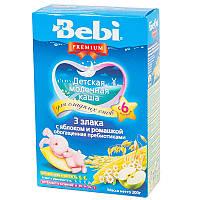 Молочна каша Bebi Premium 3 злаки з яблуком і ромашкою 200 г (1008823)