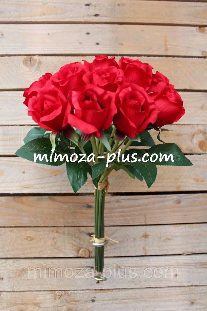 Искусственные цветы - Роза пучок, 46 см