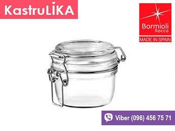 Маленька скляна герметична баночка Bormioli Fido 125мл