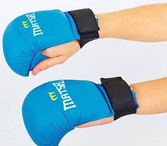 Перчатки для каратэ Matsa MA-0010 синие