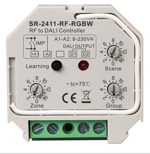 LED контроллер однозональный конвертер радиосигнала для шины DALI SR-2411-RF-RGBW SUNRICHER 12187