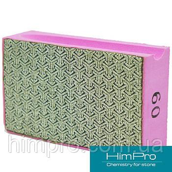 P60 Алмазные pad для ручной шлифовки и полировки мрамора, травертина, оникса, гранита, керамики, стекла