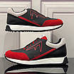Черно-красные кроссовки Fendi, фото 3