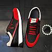 Черно-красные кроссовки Fendi, фото 7