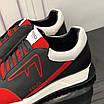Черно-красные кроссовки Fendi, фото 9