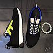 Черные кроссовки с зеленым лого Fendi, фото 2