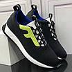 Черные кроссовки с зеленым лого Fendi, фото 3