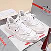 Белые кроссовки Prada, фото 3