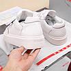 Белые кроссовки Prada, фото 4