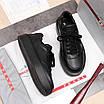 Черные кроссовки Prada|Кроссовки кожаные мужские Прада черного цвета с логотипами, фото 5