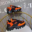 Оранжевые кроссовки Prada на массивной подошве, фото 2