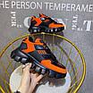 Оранжевые кроссовки Prada на массивной подошве, фото 4