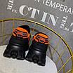 Оранжевые кроссовки Prada на массивной подошве, фото 6