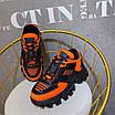 Оранжевые кроссовки Prada на массивной подошве, фото 8