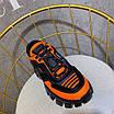 Оранжевые кроссовки Prada на массивной подошве, фото 9