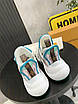 Бело-бирюзовые кроссовки Louis Vuitton, фото 2