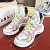 Бело-розовые кроссовки Louis Vuitton, фото 8