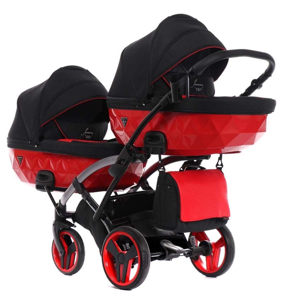 Універсальна коляска для двійні Tako Junama Diamond S-Line Red Duo Slim