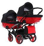 Універсальна коляска для двійні Tako Junama Diamond S-Line Red Duo Slim, фото 3