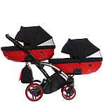 Універсальна коляска для двійні Tako Junama Diamond S-Line Red Duo Slim, фото 5