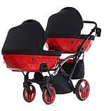 Універсальна коляска для двійні Tako Junama Diamond S-Line Red Duo Slim, фото 6