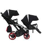 Універсальна коляска для двійні Tako Junama Diamond S-Line Red Duo Slim, фото 9