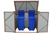 Бокс для мусорных контейнеров под дерево с коричневым, фото 2