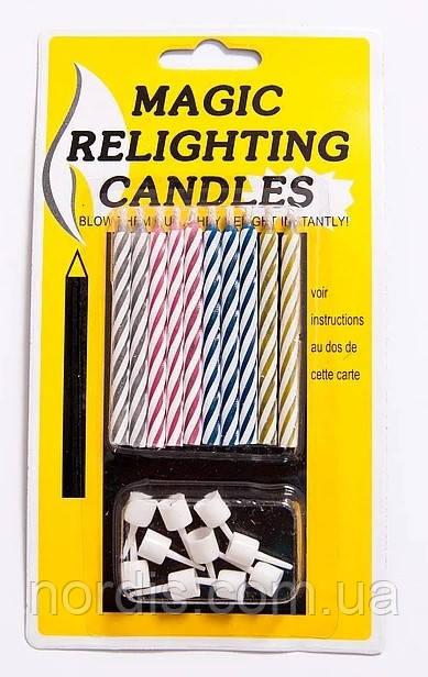 """Свечи """"магические"""". негаснущие свечи. незадуваемые 10 шт."""