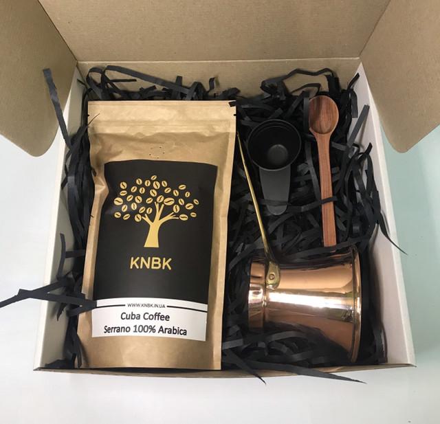 Подарочный набор турка ZH 190мл./Кофе/Мерная ложка/ложка для турки
