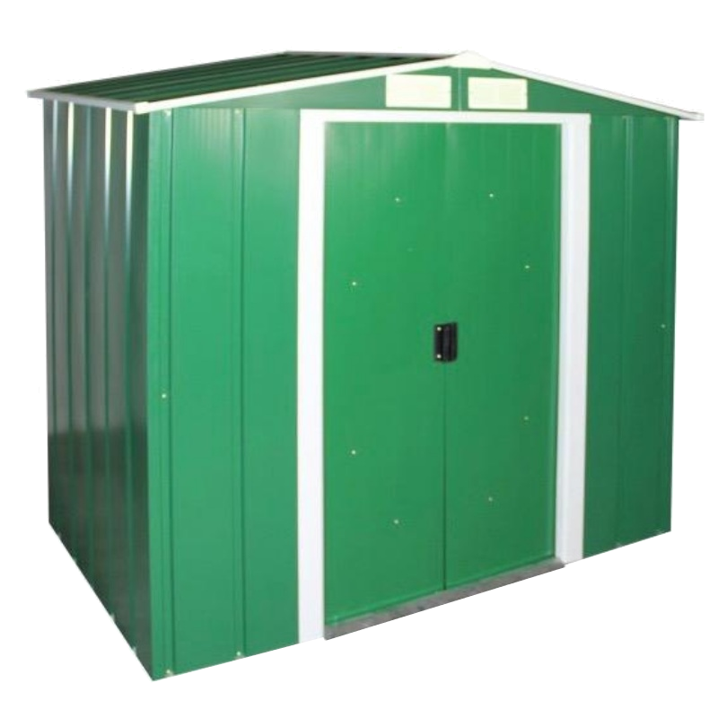 Сарай металлический ECO 202x182x181 см зеленый с белым