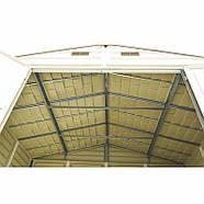 Сарай пластиковый Woodside 325x247x231 см слоновая кость, коричневая крыша, фото 6