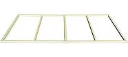 Сарай пластиковый Sidemate 242x122x185 см слоновая кость, фото 2