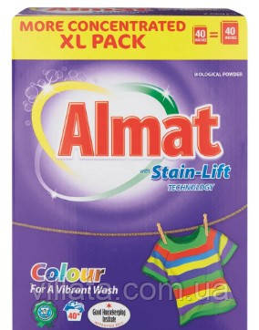 Порошок для стирки цветного болья Almat 40 ст.