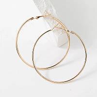 Xuping Серьги кольца, 5см, 6,5 см, 8см медицинское золото