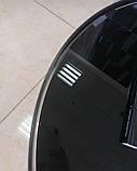 Журнальний стіл C-180 чорний глянсове скло D70*40 Vetro Mebel, фото 5