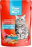 Влажный корм для кошек Пан Кот Микс (8 вкусов по 3 пауча), упаковка 24 шт по 100 грамм пауч. - Фото
