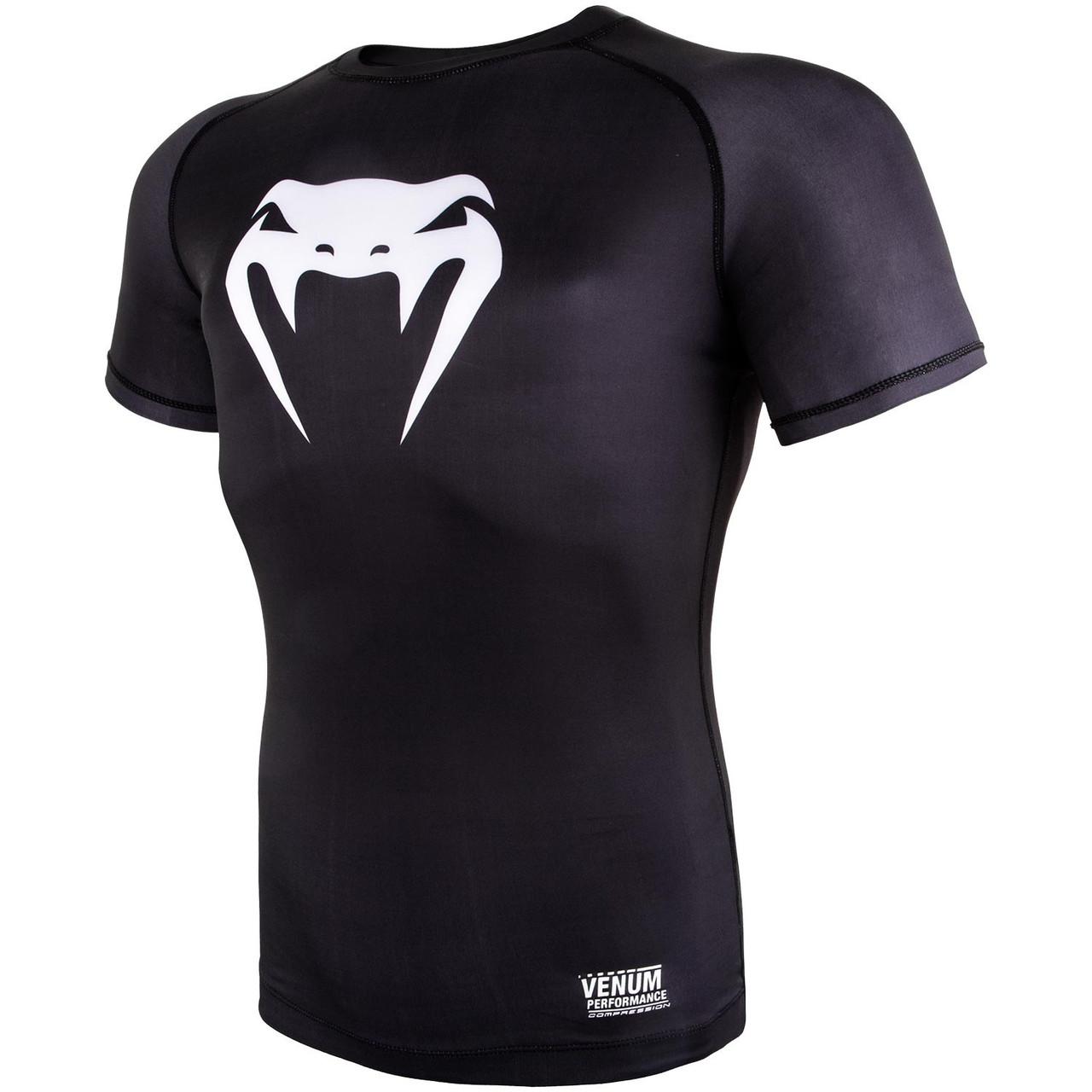 Компрессионная футболка Venum Contender 3.0 Short Sleeves Black/White