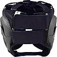 Боксерский шлем RDX Leather Pro Blue, фото 2