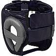 Боксерский шлем RDX Leather Pro Blue, фото 4