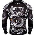 Компрессионная кофта (рашгард) Venum Dragon's Flight Rashguard Black/White, фото 3