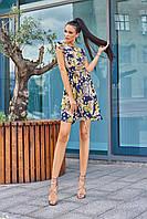 Красивое модное летнее женское платье 2020 цвет: синий, размер: S, M, L, XL