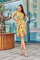 Красивое модное летнее женское платье 2020 цвет: желтый, размер: S, M, L, XL