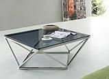 Журнальный стол CP-1 глянцевое тонированное стекло 80*80*45,5 Vetro Mebel, фото 2