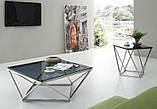 Журнальный стол CP-1 глянцевое тонированное стекло 80*80*45,5 Vetro Mebel, фото 3