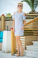 Летнее платье из хлопка  цвет: принт, размер: 36, 38, 40