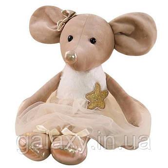Мягкая игрушка Мышка Балерина 42 см велюр