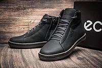 Кожаные мужские зимние ботинки Ecco!!!