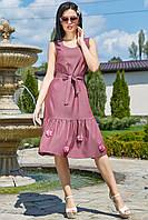 Летнее женское  платье цвет: марсала, размер: S, M, L, XL