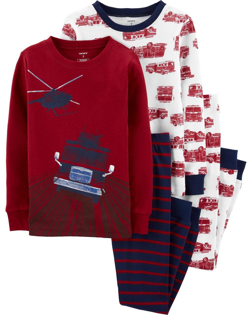 Комплект бавовняних піжам Пожежна машина з 4-х частин