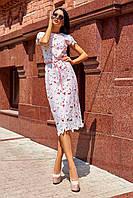 Красивое модное летнее женское платье 2020 цвет: персиковый, размер: S, M, L, XL
